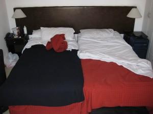 Derek and Lucas sleeping arrangements