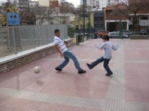 Lucas @ soccer school.